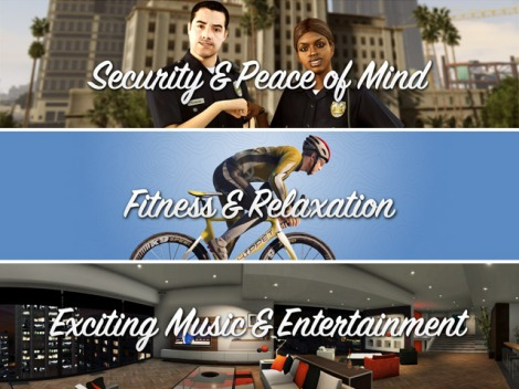 Security, Fitness, Entertainment