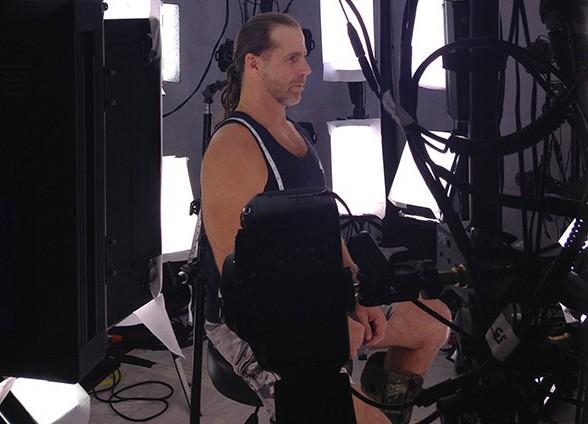HBK  WWE 2K15 BTS Being Scanned