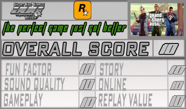 GTAV PS4 Review Score