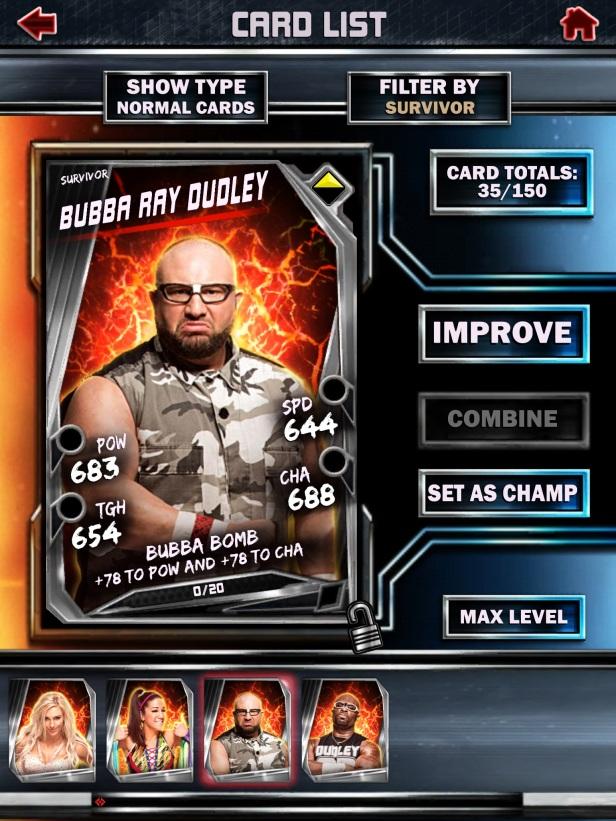 WWE Supercard Season 2 Survivor & PCC Update Cards_Bubba2