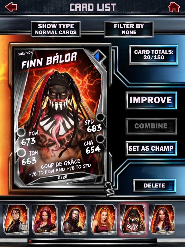 WWE Supercard Season 2 Survivor & PCC Update Cards_Finn2