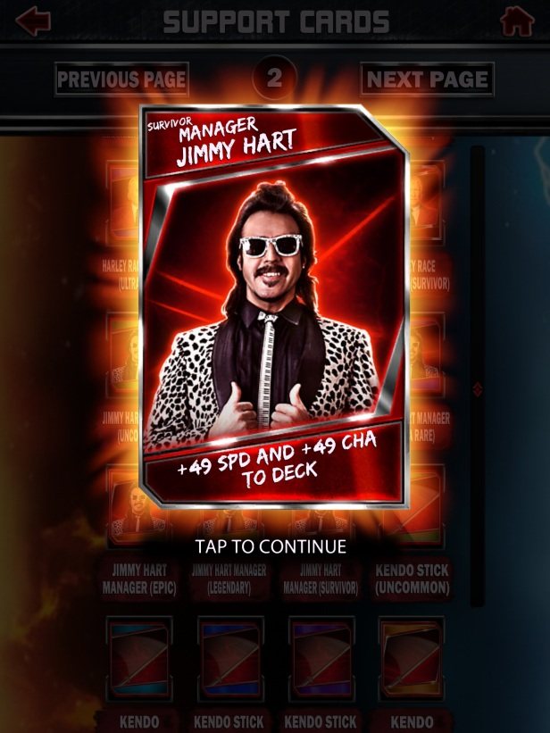 WWE Supercard Season 2 Survivor & PCC Update Cards_Hart1