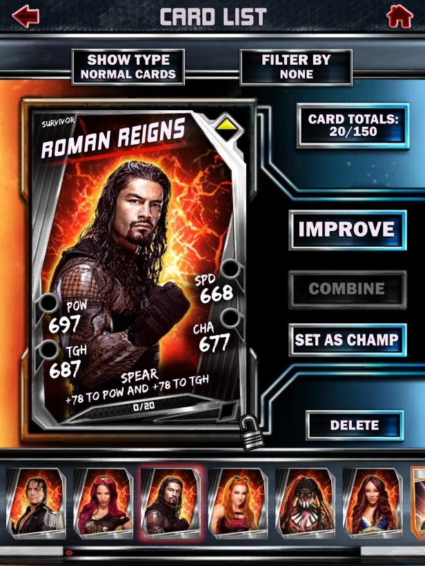 WWE Supercard Season 2 Survivor & PCC Update Cards_Roman2