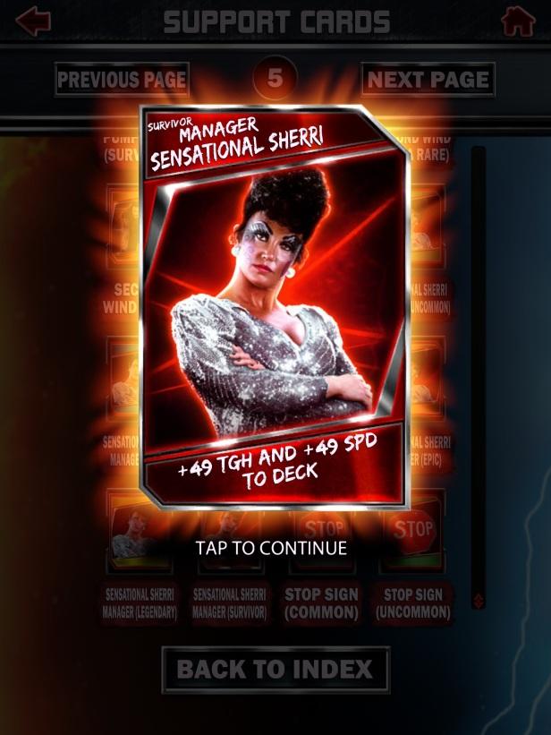 WWE Supercard Season 2 Survivor & PCC Update Cards_Sherri1