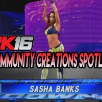 WWE 2K16 Community Creations Spotlight: Sasha Banks by UncleCreepy/LilDicky