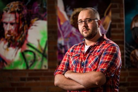 WWE 2K17 Artist And WWE portrait artist Rob Schamberger E3 2016.jpg