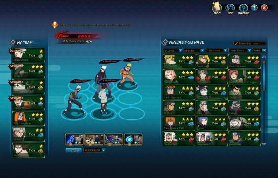 NARUTO ONLINE_TeamSetup