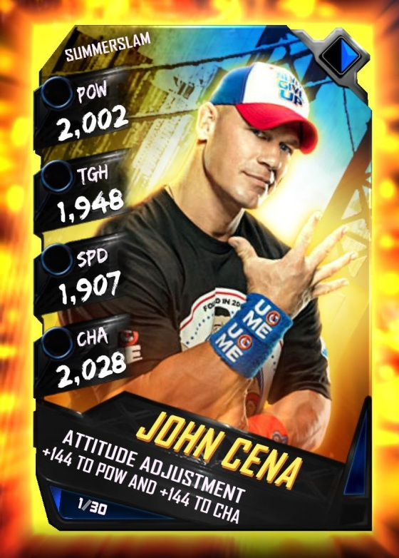 WWE SuperCard Summerslam Tier John Cena