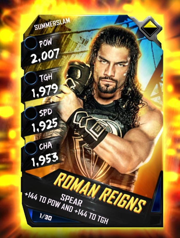 WWE SuperCard Summerslam Tier Roman Reigns