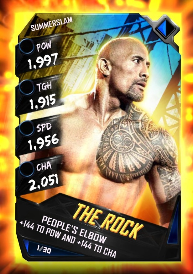 WWE SuperCard Summerslam Tier The Rock