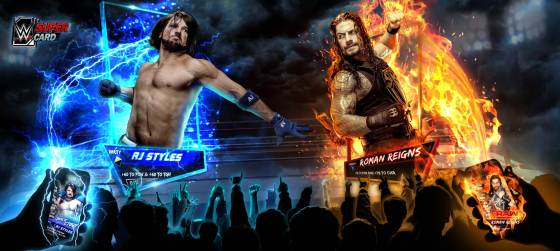 wwe-supercard-season-3-live-action-aj-vs-roman-reigns