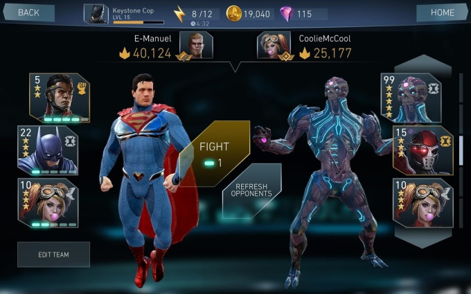 Injustice 2 Mobile Screen_Superman Fight
