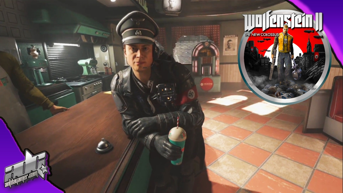 Wolfenstein 2: The New Colossus Strawberry Milkshake Gameplay Demo