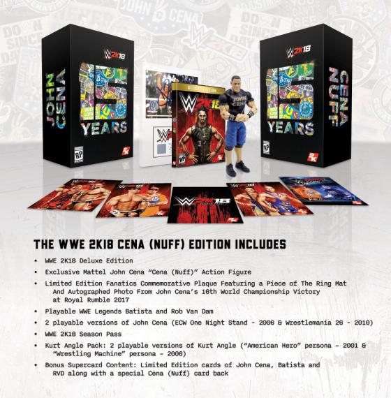 WWE2K18 CE Items with Descriptor