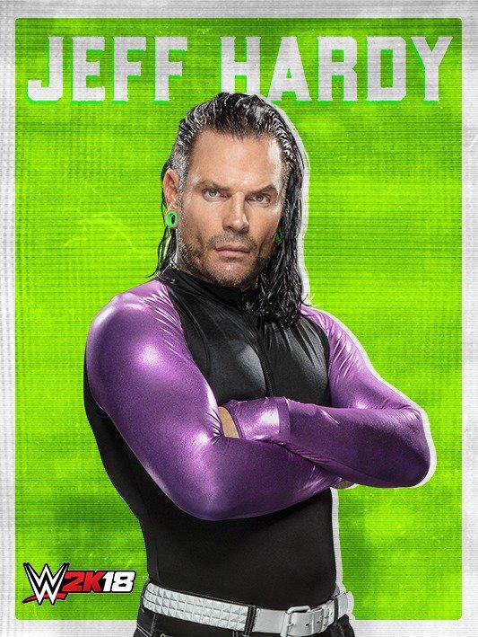 WWE 2K18 DLC Roster Jeff Hardy