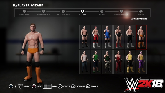 MyPLAYER WIZARD (ATTIRE SELECTION)
