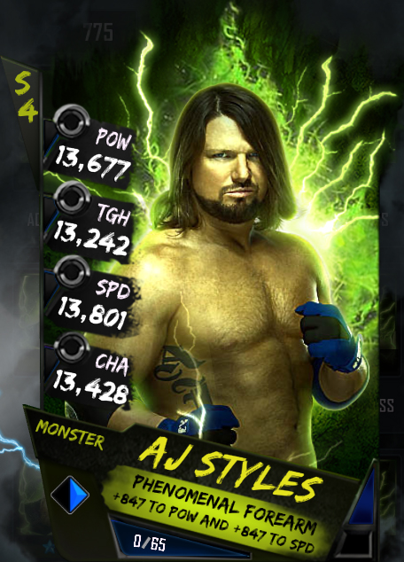 New Card Tiers - AJ Styles (Monster)