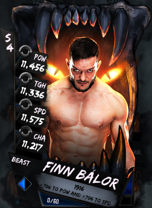 New Card Tiers - Finn Balor (Beast)