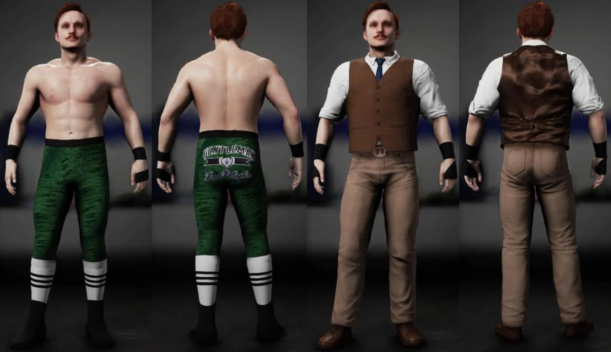 WWE 2K18 Jack Gallagher Alternate Attires Update By J-Man89 For PS4