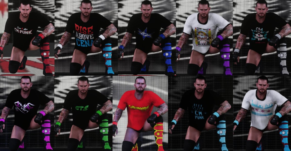 WWE 2K18 CM Punk Mod Attire Pack By TheAznBlusuazn