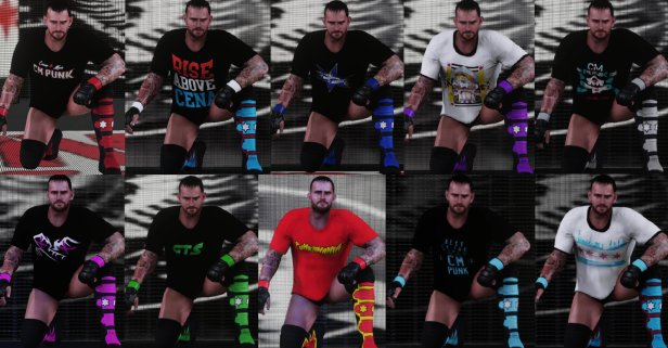 WWE 2K18 CM Punk Attire Pack