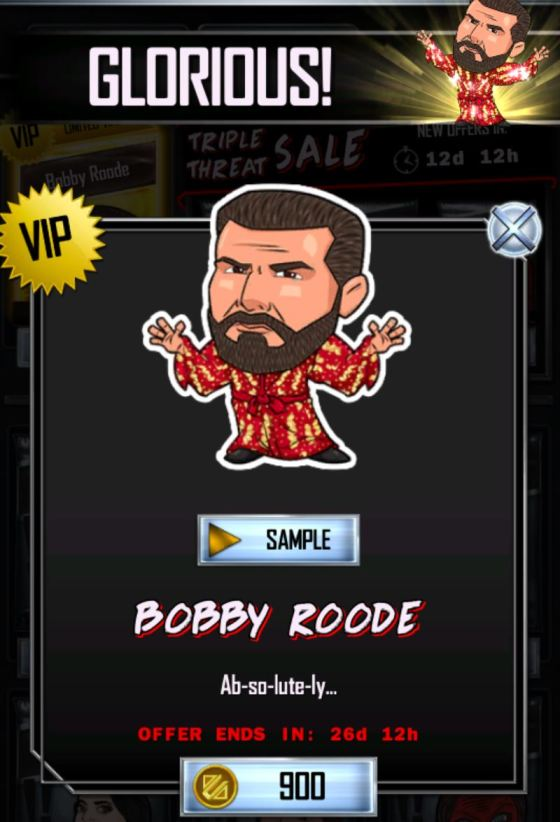 WWE SuperCard Bobby Roode Glorious
