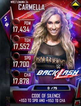 WWE SuperCard Wrestlemania 34 Money In The Bank Carmella WWE Backlash