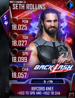 WWE SuperCard Wrestlemania 34 Money In The Bank Seth Rollins Backlash