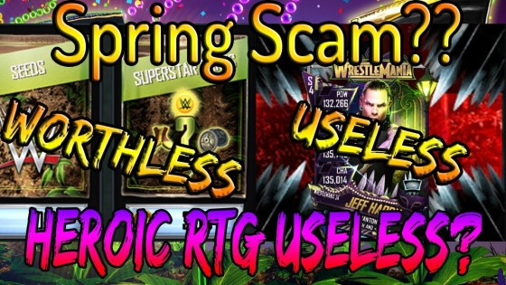 WWE SuperCard Spring Scam