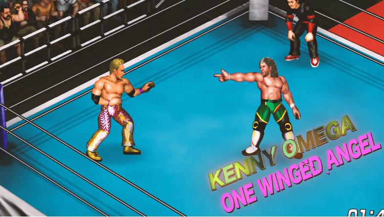 Fire Pro Wrestling World Screenshot Okada vs Omega One WInged Angel Screenshot_29