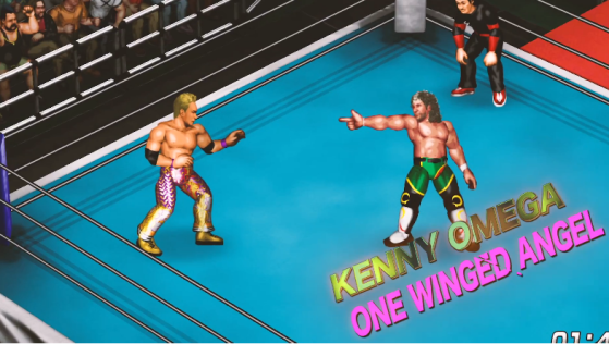 Fire Pro Wrestling World Screenshot Okada vs Omega One WInged Angel Screenshot_29