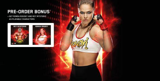WWE 2K19 Ronda Rousey Splash with Rey Mysterio Pre-Order Infographic.jpg