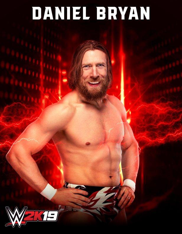 WWE 2K19 Roster Image Daniel Bryan