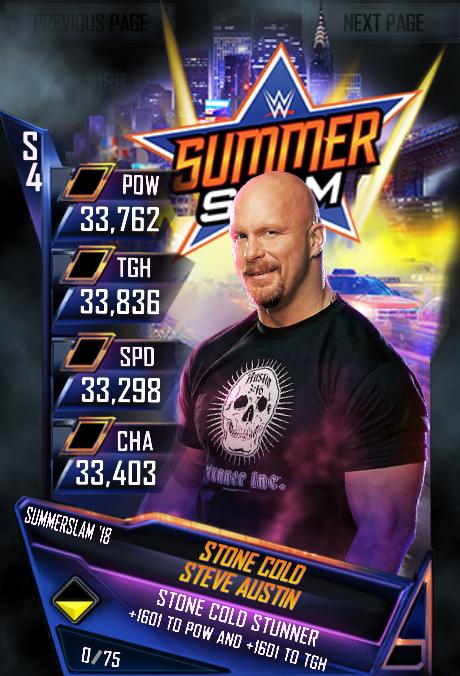 WWE SuperCard SummerSlam 18 Stone Cold Steve Austin