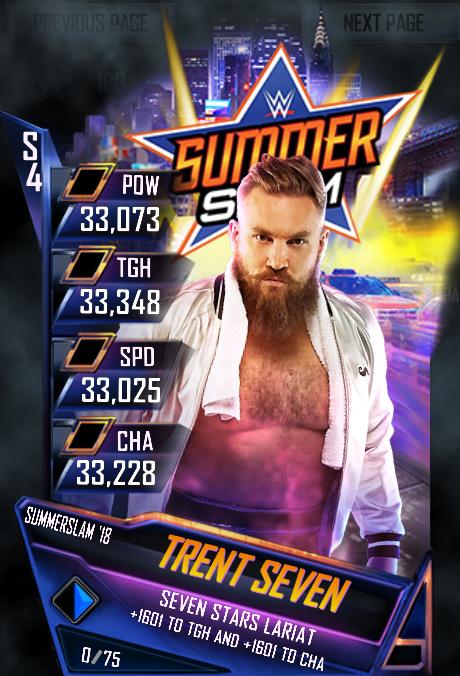 WWE SuperCard SummerSlam 18 Trent Seven