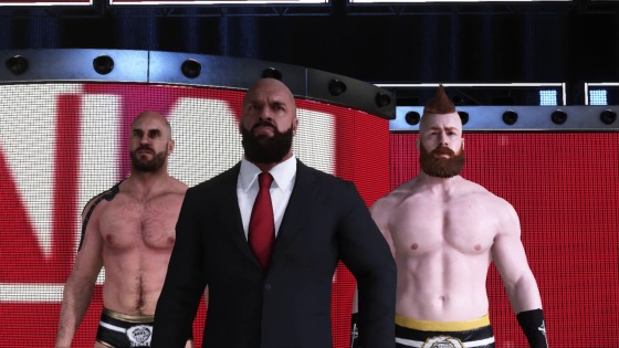2k19mycareer2 Triple H Sheamus Cesaro