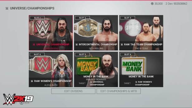 Round 2 Universe WWE 2K19 Champs