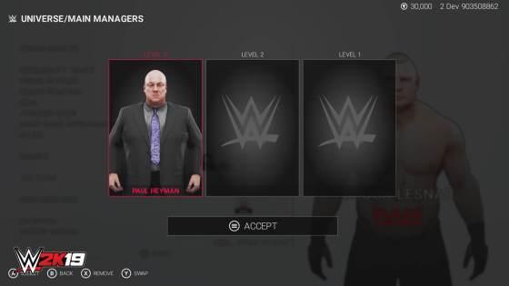 WWE 2K19 Universe Mode threemanagers