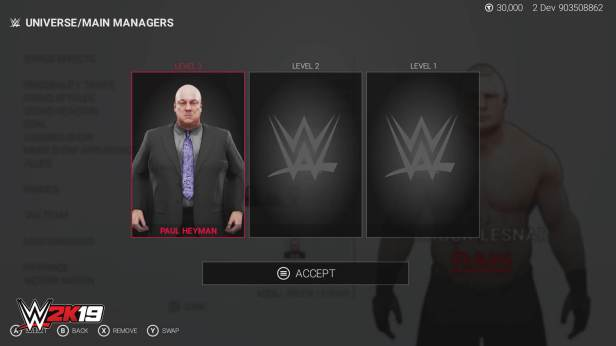 WWE 2K19 Universe Mode threemanagers