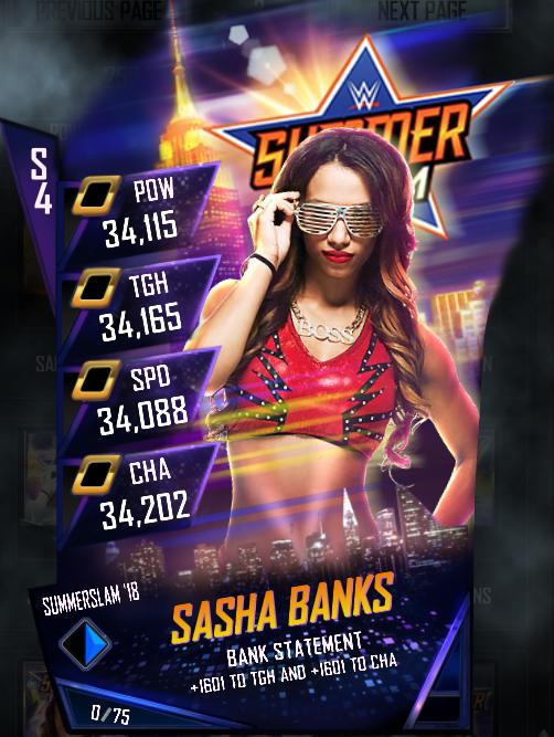 WWE SuperCard SS18 Fusion Sasha Banks