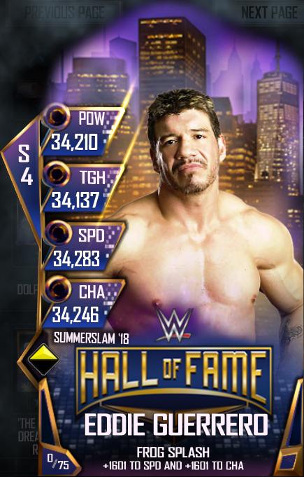WWE SuperCard SS18 HOF Eddie Guerrero