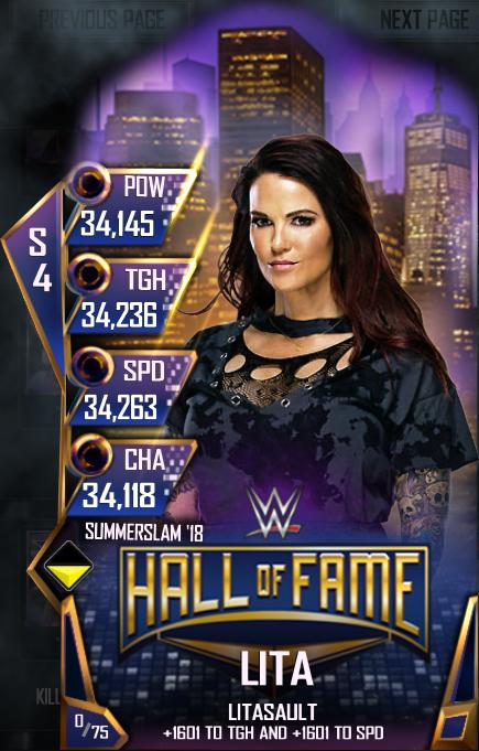 WWE SuperCard SS18 HOF Lita
