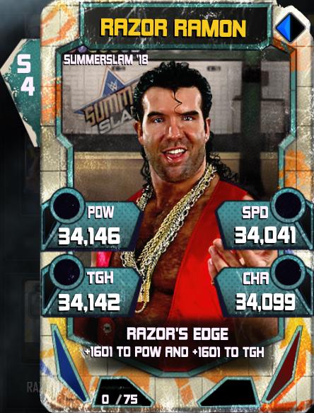 WWE SuperCard SS18 TBT Razor Ramon