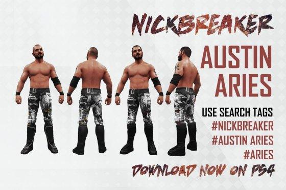 Rename WWE 2K19 Nickbreaker Austin Aries Version Impact