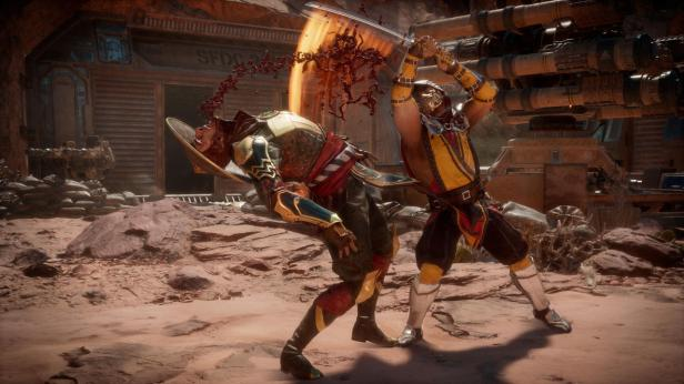 Mortal Kombat 11 Dark Raiden Vs Scorpion 1st Batch Official Screenshots (2)