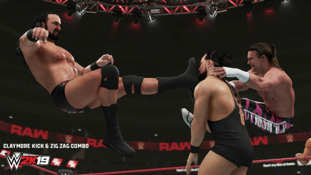wwe 2k19 new moves pack ClaymoreKickZigZagCombo