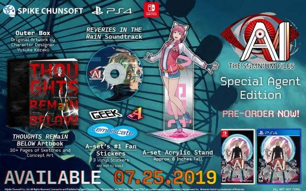 AI The Somnium Files Special Agent Edition