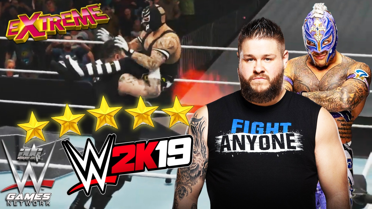 Kevin Owens Gets Extreme With Rey Mysterio In This WWE 2K19 Gameplay With Community Creation Attires